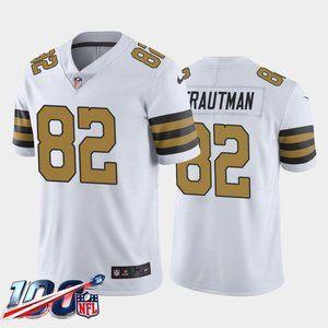 New Orleans Saints Adam Trautman White Rush Jersey